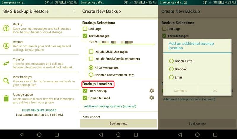 SMSバックアップと復元を使用してAndroidからiPhoneにテキストメッセージを転送する
