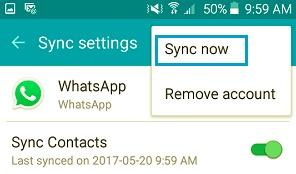 WhatsApp Syncをリセットして、連絡先に問題が表示されない問題を修正します